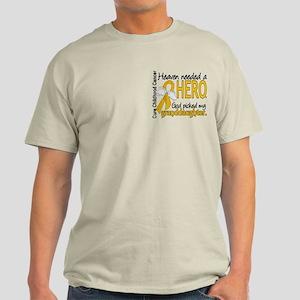 Childhood Cancer HeavenNeededHero1 Light T-Shirt