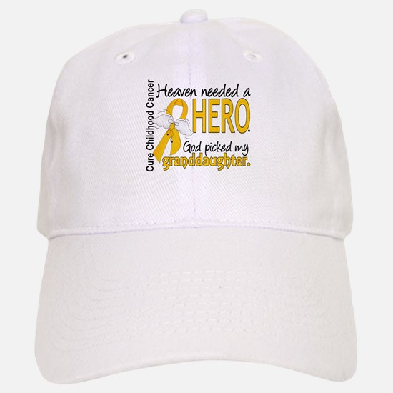 Childhood Cancer HeavenNeededHero1 Baseball Baseball Cap