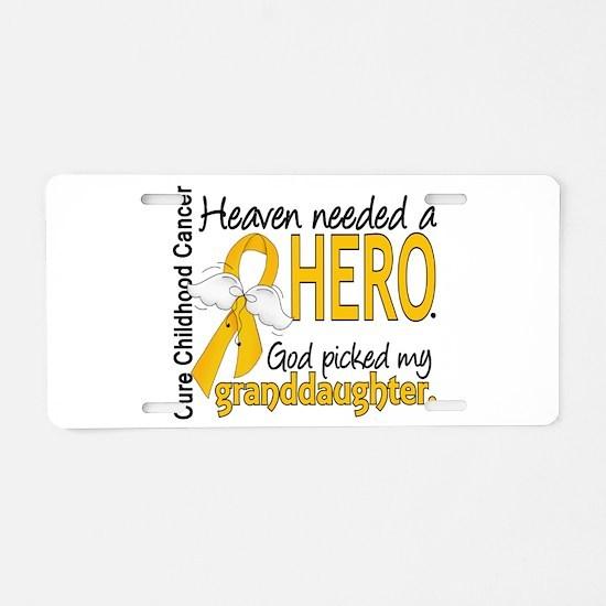 Childhood Cancer HeavenNeed Aluminum License Plate