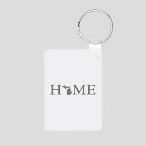 Michigan Home Aluminum Photo Keychain