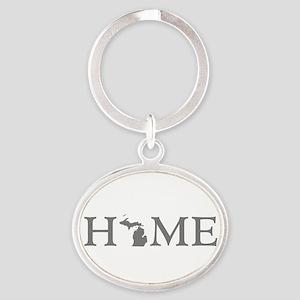 Michigan Home Oval Keychain