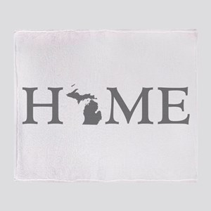 Michigan Home Throw Blanket