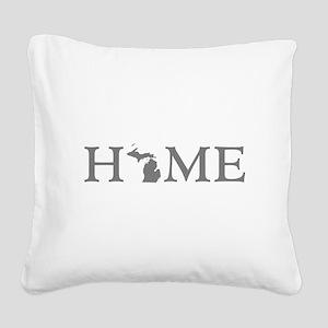 Michigan Home Square Canvas Pillow