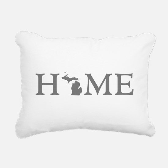 Michigan Home Rectangular Canvas Pillow