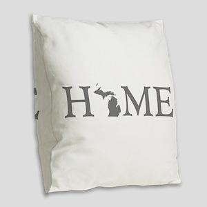 Michigan Home Burlap Throw Pillow