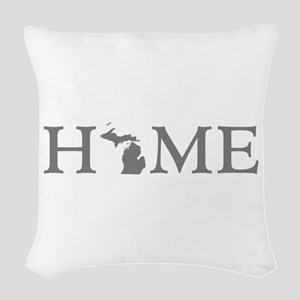 Michigan Home Woven Throw Pillow