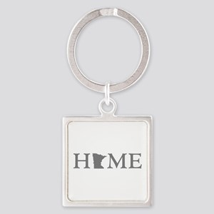 Minnesota Home Square Keychain