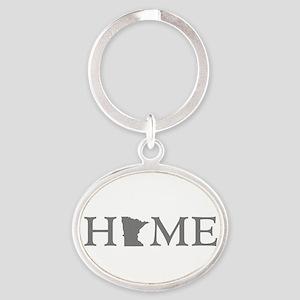 Minnesota Home Oval Keychain