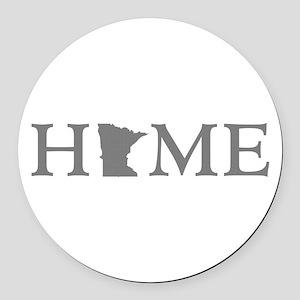 Minnesota Home Round Car Magnet