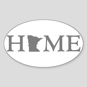 Minnesota Home Sticker (Oval)