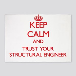 Keep Calm and trust your Structural Engineer 5'x7'