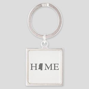 Mississippi Home Square Keychain
