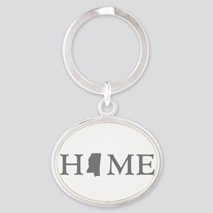 Mississippi Home Oval Keychain