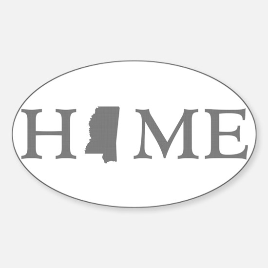 Mississippi Home Sticker (Oval)