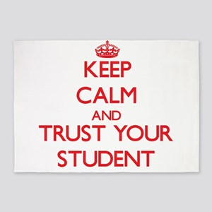 Keep Calm and trust your Student 5'x7'Area Rug
