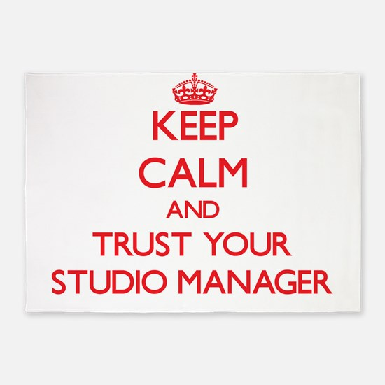 Keep Calm and trust your Studio Manager 5'x7'Area