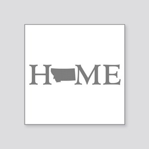 "Montana Home Square Sticker 3"" x 3"""