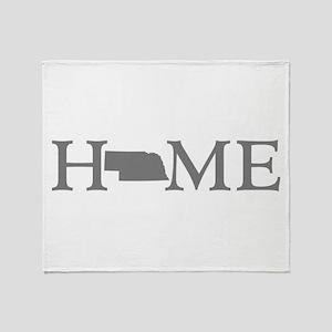 Nebraska Home Throw Blanket