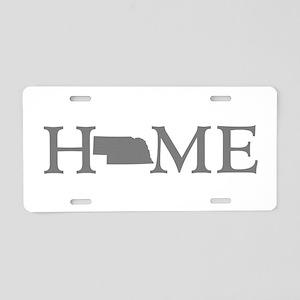Nebraska Home Aluminum License Plate