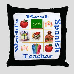 Spanish teacher Throw Pillow