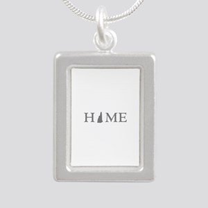 New Jersey Home Silver Portrait Necklace