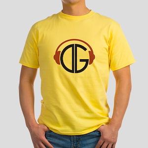 DGR- Headphones Logo Yellow T-Shirt