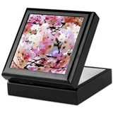 Cherry blossoms Square Keepsake Boxes