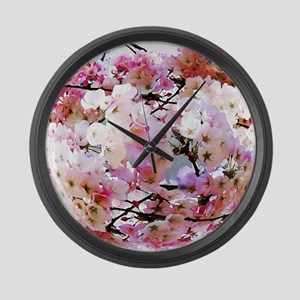 Cherry Blossoms Large Wall Clock