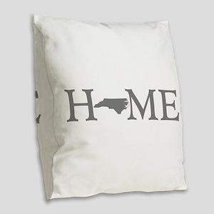 North Carolina Burlap Throw Pillow