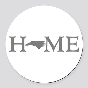 North Carolina Round Car Magnet