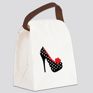 High Heels Lady Shoes Canvas Lunch Bag