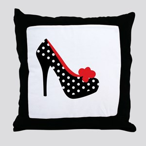 High Heels Lady Shoes Throw Pillow