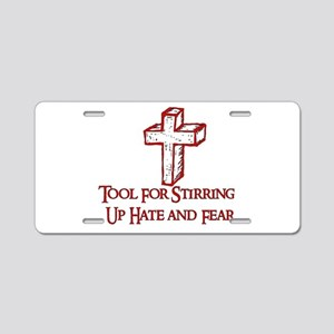 Hate Tool Aluminum License Plate