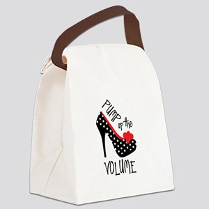 Pump up the Volume Canvas Lunch Bag
