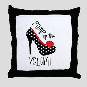 Pump up the Volume Throw Pillow