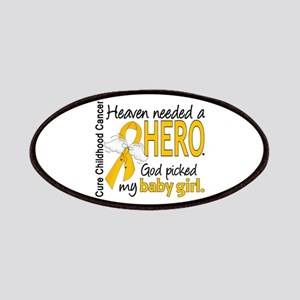 Childhood Cancer HeavenNeededHero1 Patches