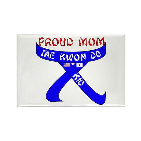 TKD Mom Kid Rectangle Magnet