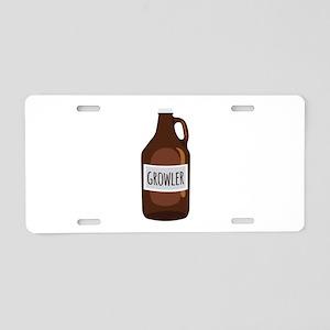 Growler Aluminum License Plate