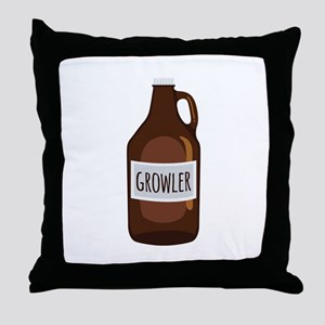Growler Throw Pillow