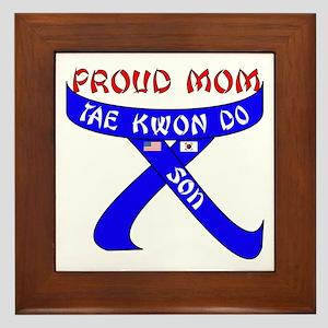 TKD Mom Son Framed Tile