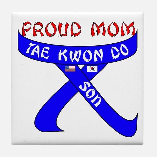 TKD Mom Son Tile Coaster