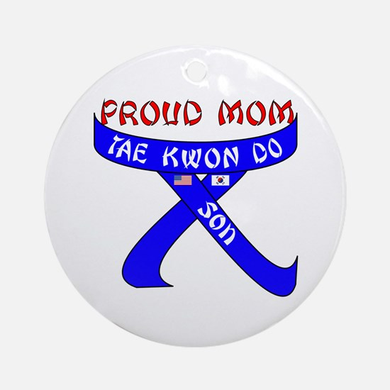 TKD Mom Son Ornament (Round)