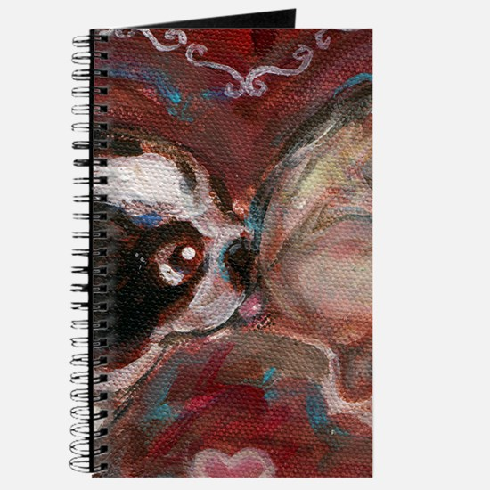 Boston Terrier Kisses Baby Journal