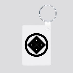Tilted four-square-eyes in Aluminum Photo Keychain