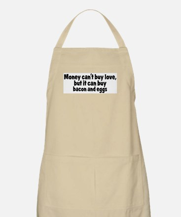 bacon and eggs (money) BBQ Apron