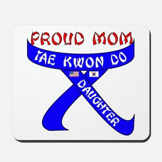 TKD Mom Daughter Mousepad