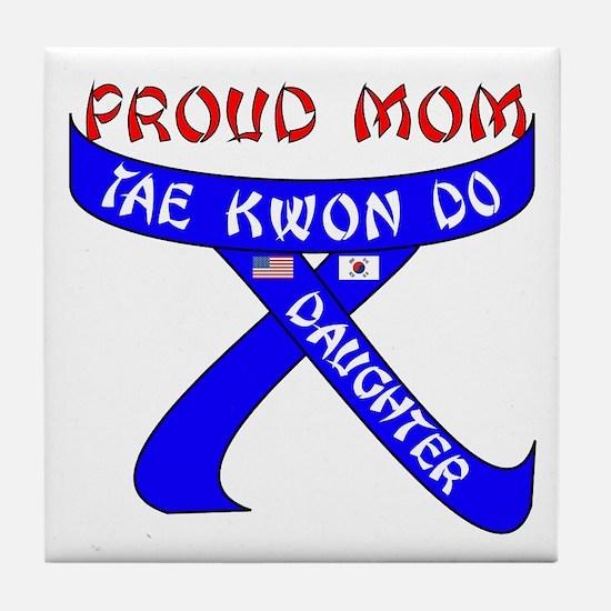 TKD Mom Daughter Tile Coaster