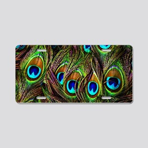 Peacock Feathers Invasion Aluminum License Plate