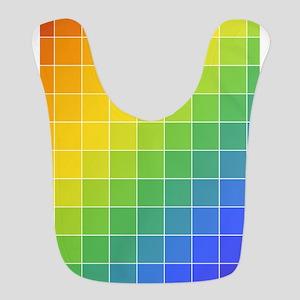 Rainbow Squares Bib