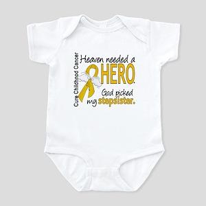 Childhood Cancer HeavenNeededHero1 Infant Bodysuit